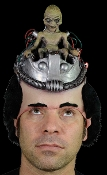 Roswell Style Funny Realistic Cyborg Robot ALIEN PILOT Space Brain Driving Flying Saucer Spaceship UFO Costume LATEX HEAD PIECE HAT MASK Halloween Prop Cosplay Costume Accessory X-Files inspired Gag. Mulder suspected Martians control Earthlings!