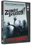 Amazing Realistic Animated Digital Special Effects AtmosFEARfx ZOMBIE INVASION! FX DVD Decoration. Scary decor! Watch as zombies try to get thru the wall or window! Four displays: standard, shadow, interior, exterior. Includes landscape and portrait.