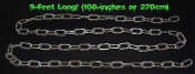 Realistic Rusted Steampunk Cosplay Police Pirate Costume Accessory 9-FT LONG FAKE RUSTY PLASTIC CHAIN 2-inch Link-Medieval Dungeon Prisoner Jail Halloween Haunted House Cemetery Graveyard Theater Stage Faux DIY Prop Gag Indoor Outdoor Yard Decoration