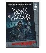 Amazing Realistic Animated Digital Special Effects AtmosFEARfx BONE CHILLERS FX DVD Decoration. Frightfully Entertaining! Skeletons and reapers come alive on wall or creepily scurry by! Multiple displays for projection on wall, window, TV, monitor.