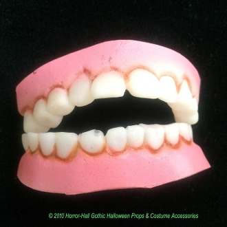 SMALL Petite Size Nerd Geek Redneck FUNNY BUCK TEETH DENTURES Dopey Hunchback Horror Monster Graveyard Caretaker Hillbilly Halloween LARP Cosplay Role Play Dress Costume Prop Accessory Prosthetic Special Effects Makeup-KIDS TEENS ADULTS