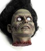 Creepy Realistic Life Size Female Zombie Corpse Severed Human Woman Head with Hair-Cut Off Body Part Spooky Halloween Haunted House Scary Horror Static Cemetery Graveyard Morgue Autopsy Prop Building Apocalypse Theme Cosplay Costume Party Decoration