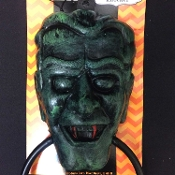 Novelty Gothic Theme VAMPIRE GREEN HULK FRANKENSTEIN MONSTER HEAD DOOR KNOCKER with Creepy Bloody Red Fangs-TOWEL RING SCONCE Swag Garland Holder-Spooky Halloween Haunted House Horror Wall Decoration Bathroom Kitchen Bar Costume Party Decor Prop