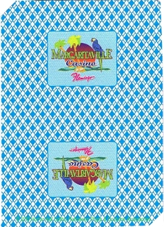 Flamingo-MARGARITAVILLE-Jimmy Buffet inspired-CASINO PLAYING CARDS DECK-Genuine Authentic Logo Las Vegas Gambling Poker Blackjack Game LUAU Collectible-Excellent Like-NEW Used Condition. Great collector gift!