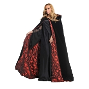 Cheap Wholesale Discount CAPES, CLOAKS, ROBES, COATS - Fun Superhero Costume Accessory, Steampunk Gothic Medieval Hooded Wicked Witch and Vampire, Fantasy Adventure Movie Character, Halloween Cosplay Costume Accessories