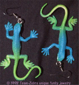 Realistic LIZARD - GECKO - IGUANA EARRINGS - Mini Exotic Amphibian Reptile Jungle Desert Animal Novelty Costume Jewelry