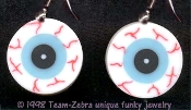 Body Parts EYEBALL EVIL EYE EARRINGS Funky Witch Novelty Costume Jewelry-FLAT