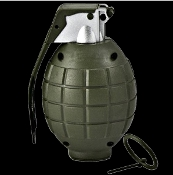 Ticking Boom Sounds TOY DUMMY HAND GRENADE with Removable Pin Realistic-Look Military Army Marines Soldier Fake Weapon Halloween Cosplay Costume Accessory Pretend Role Play LARP