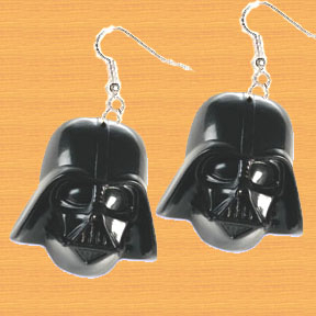 HUGE Funky Star Wars DARTH VADER EARRINGS - Cosplay Sci-Fi Villain Costume Jewelry
