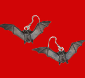 Big Miniature BLACK BAT EARRINGS Halloween Twilight Elvira Dracula Gothic Vampire Cosplay Costume Jewelry