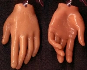 Body Part HAND FINGERS EARRINGS Funky Realistic Dexter Jewelry-TAN