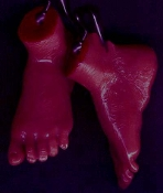 Body Parts FOOT FEET EARRINGS Dexter Serial Killer Jewelry-AA