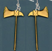 Hand Tool AXE HATCHET EARRINGS - Executioner Camping FireFighter Charm Jewelry