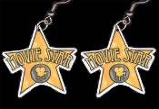 Big Funky MOVIE STAR EARRINGS - Diva Princess Movies Attitude Charm Costume Jewelry