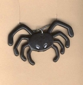 Scary Black SPIDER PENDANT NECKLACE - Halloween Gothic Emo Cosplay Costume Jewelry
