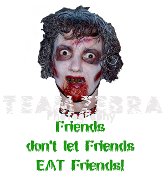 Gothic Zombie FRIENDS DON'T LET FRIENDS EAT FRIENDS T-SHIRT The Walking Dead Halloween Costume Party Unisex Punk Ghoul Novelty Tee – Soft white short-sleeve cotton top. Youth Child size. Exclusive design Creepy Graphic Horror Funny Apparel