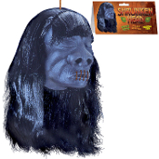 Cheap Wholesale Discount Realistic Hanging Scary Fake Voodoo SHRUNKEN Heads, Mini Severed Head, Jungle Cannibal, Auto Car Luau Decor, Pirate Props, Halloween Haunted House Horror Decorations