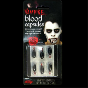 True Horror Realistic FX Fake Faux Red ZOMBIE VAMPIRE BLOOD CAPSULES Liquid Gel Walking Dead Dracula Twilight Diaries Living Undead Cosplay Halloween Costume Special Effects Make-up Prosthetic Prop Accessory
