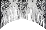 Gothic Halloween Haunted House Props Decor, TABLECLOTHS, TABLE COVERS, TABLE TOPPERS, TABLE RUNNERS, CHAIR COVERS, WINDOW DOOR COVERS, CURTAINS, SWAGS, VALANCES, DRAPES, PILLOW COVERS, Brocade Damask Fabric Lace Formal Informal Home Party Decorations