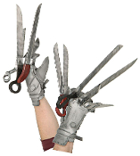 Funky Cool EDWARD SCISSORHANDS DELUXE GLOVES Novelty Masquerade Halloween Cosplay Costume Accessory - The most unique gloves ever filmed. Long plastic scissor like projections attached to cloth gloves