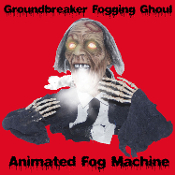 Special Effects Creepy SONIC GROUNDBREAKER FOGGING GHOUL Animated Fog Machine Accessory Halloween Props 2-ft tall Gothic Evil GRAVEYARD ZOMBIE Animatronic Creature Fogger Accessory is BATTERY OPERATED. Head moves, Eyes LIGHT! See Demo!