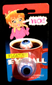 Trick Joke Gag-FLOATING EYEBALL-Body Part-Halloween Horror Props Costume Accessory Cosplay Walking Dead Horror Movie Stage Theatrical Haunted House Display. Dimensional EVIL EYE in a cup of coffee is a real eye opener or an eyeball for your highball!