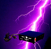 PERFECT STORM Halloween Prop Building Special Effects Controller-Lights flash on and off synced with thunder on included CD. Plug directly to Control Box and place in front of Player. Flashing Christmas lights synchronize with cd or holiday music!