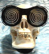 Getting sleepy? Mad Scientist Toy HYPNO PARTY GLASSES with UV400. Swirl Goggles Hypnosis Magic Joke Prank Gag Gift. Mind control with wacky novelty Cartoon Swirling Hypnotizing Specs. Funky nerd, geek, apocalypse, magician Halloween costume accessory