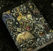 Bicycle Brand Poker Blackjack-eveRydAy zomBIES PLAYING CARDS DECK-Creepy Funny Weird Walking Dead Theme Novelty Collectible Casino Game Halloween Cosplay Horror Party Favor Gag Gift-52 unique illustrated cards. We all feel like Zombies at some point!