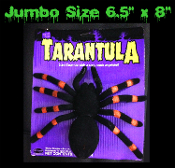 Big Creepy Realistic Arachnophobia Fuzzy Flocked Black Widow Extra Large Jumbo Size GIANT TARANTULA SPIDER Scary Bug Gothic Halloween Haunted House Cemetery Graveyard Prop Building Decoration Witch Costume Accessory Prank Joke Gag Gift