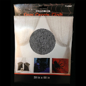 One CREEPY CLOTH FREAKY FABRIC Halloween Haunted House Gothic Decor Horror Prop Building Door Wall Table Decoration - Color GRAY GREY. Mesh textile cotton gauze-like material. There are holes torn for a more realistic decaying rotted look.