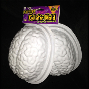 2-pc Economy Life Size HUMAN BRAIN GELATIN ICE MOLD Zombie Food Halloween Party Decoration Jello Mould DIY Crafts Horror Prop Building Creepy Walking Dead Body Part. Freak friends with a ghoulish appetizer dessert molded to scare! Must Eat BRAINS!