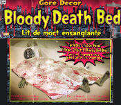 Life Size Realistic Walking Dead Gothic Gore Decor GHOUL CORPSE MORGUE BODY ZOMBIE DEATH BED HORROR-Bloody Scene Halloween Prop Building Supplies-Haunted House Decorations-Creepy Graveyard Bedroom Movie Scenery-Spooky Head,hands,feet,spattered sheet