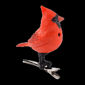 Motion Sensing CHIRPING RED CARDINAL SONG BIRD ORNAMENT Realistic Tweeting Sounds Stocking Stuffer Party Favor Secret Santa Gift. Novelty Christmas Tree Holiday Singing Decoration clips on. Whimsical song bird adds a chirping touch to any décor!