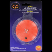 Spooky Portable Compact Flashing Lighted Pumpkin Jack-o-Lantern LIGHTNING STROBE LED Halloween Prop Building Light Effects Decoration-Display lite-up for animated and static props in haunted house, dungeon, graveyard, mad scientist laboratory, etc