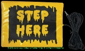 STEP HERE PAD SWITCH ACCESSORY Activates Animated Animatronic Props Display Halloween Haunted House Decorations with Standard Mini Jack Connector - Pressure activated optional operation when sound activation is deterred by noise interference.