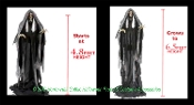 Creepy Deluxe Life Size Talking Animated Standing Gothic-RISING BOG REAPER DEMON PHANTOM-Scary Lights Sounds Animatronic Evil Zombie Grim Reaper Spooky Halloween Haunted House Greeter Horror Prop Decoration-Grows to SIX and a HALF FEET TALL