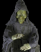 Cheap Wholesale Discount STATIC Realistic Life Size Creepy WITCHES, Spooky Gypsies, Scary FORTUNE TELLER, Gypsy Themed Decor, Haunted House Horror Props, Halloween Decorations - Non Moving - Props Do NOT Move
