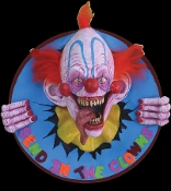 Cheap Wholesale Discount STATIC Realistic Life Size Creepy CLOWNS, Clown Costume Accessories, Spooky Carnival, Scary Carnies, Fake CIRCUS, Haunted House Horror Props, Halloween Decorations - Non Moving - Props Do NOT Move