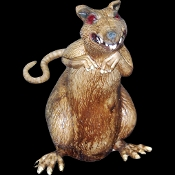 Huge standing creepy rat is a scary haunted house Halloween horror prop decoration! Realistic deluxe latex rodent perfect for any cemetery graveyard, haunt display or mad scientist laboratory. 10-inch Tall x 5-inch Wide (25x12.5cm) figure.