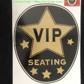 Funny Toilet Seat Lid Topper-VIP SEATING-VERY IMPORTANT PERSON-Restroom Bathroom Throne Decoration STICKER CLING DECAL-Halloween Prop Amusing Hollywood Movie Celebrity Retirement Birthday Party Chair Humorous Joke Gag Decoration-Sticky Grabber Sheet