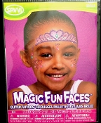 Magic Fun Faces Glitter Tattoos-PRETTY PRINCESS-Colorful Stick Tattoo Decals. Eye Shadow Face Art Wear Sticker. Fake Temporary Transfers Special Effects Instant Cosmetic Accessory, pictured. Add your own makeup. Easy application, removal. Lasts days.