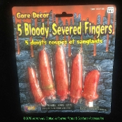 Life Size Bloody Zombie Food Fake SEVERED FINGERS Butcher Chop Shop Body Parts, Mad Doctor Scientist, Hannibal Lector Cannibal, Dexter Laboratory Serial Killer, Walking Dead Scene Setter, Economy Realistic Halloween Props Building Costume Accessory