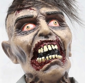 Funny ANIMATED BUMP and GO ZOMBIE around! Creepy ankle biter moving decoration will liven up any Halloween costume party! 24-inch tall sound-activated roaming character haunted house prop features light-up eyes and frightening Zombie groaning sounds.