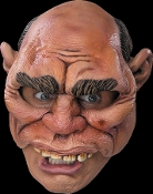 Funny Weird Monster OGRE HEAD TOPPER UPPER HALF FACE MASK Redneck Neanderthal Caveman Circus Carnival Freak Carny Rat Fairytale Giant Geezer-Halloween Horror Cosplay Costume Accessory-Prop Building Crafts Projects-Adult Size-Vinyl Flesh Color