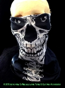 Face Shield Seamless Mask Magic Scarf GOTHIC GHOST SKELETON SKULL Balaclava Hat Head Cap Bandanna Wrap Neck Warmer Headband Tube Wind Dust Bug Sun Protection Multi Use Sports Outdoor Military Tactical Skiing Cyclists Biker Cosplay Punk Pirate Costume