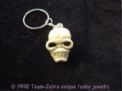 Funky Creepy Severed Walking Dead ZOMBIE HEAD SKELETON SKULL KEYCHAIN Voodoo Pirate Headhunter Grim Reaper Cosplay Halloween Horror Novelty Costume Jewelry Party Favor