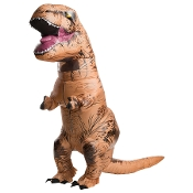 Now, you can have the CRAZY COSTUME that has gone VIRAL! Funny T-REX INFLATABLE INSTANT COSTUME Airblown Jurassic World Dinosaur-UNISEX Fits Most ADULTS Teens-Hysterical VIRAL VIDEO CHALLENGE Halloween Cosplay Complete Easy Outfit with Fan Accessory
