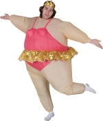 Hilarious Funny BALLERINA DANCER INFLATABLE BODY COSTUME Hysterical Airblown Gag Halloween Cosplay Easy Fun Instant Cosplay Costume Parade Party Entertainer Mascot-Unisex One Size Adult with Self Inflation Fan. Fits most 5-feet to 6-feet tall.