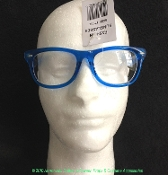 Steampunk Teacher School Boy Girl Funny Hipster-Retro ROYAL BLUE FRAME NERD GLASSES-CLEAR LENSE-UV400 Novelty Wayfarer Gag-Nutty Professor Doctor Scientist Cosplay Halloween Costume Accessory Geek Gear Play Eyewear